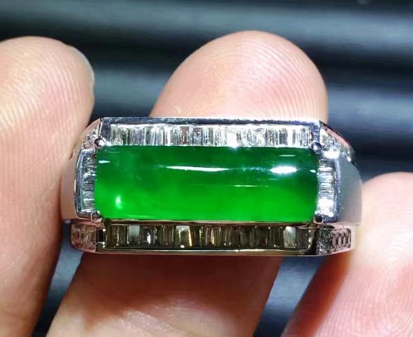 Perhiasan Batu Cincin Giok Untuk Pria -