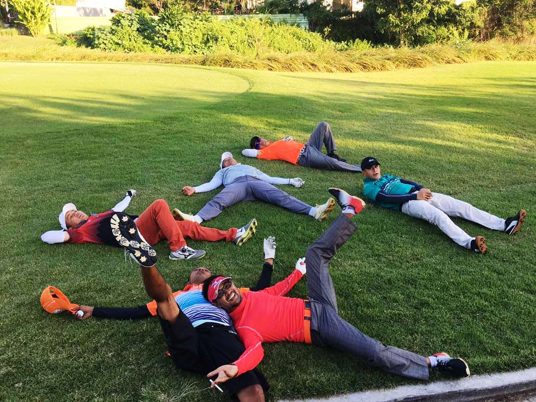 Ekspresi para Golfer Bali Golf Club - ada2 saja acting nya - he hee