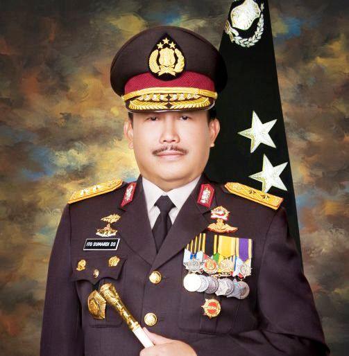 Ito Sumardi - Saat menjabat sebagai Kapolda Sumsel 2006-2008