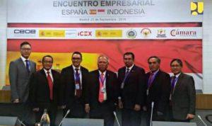 Menteri PUPR Basuki Hadimuljono saat menghadiri Business Indonesia Roundtable Meeting di Madrid, Spanyol, Jumat (21/9)