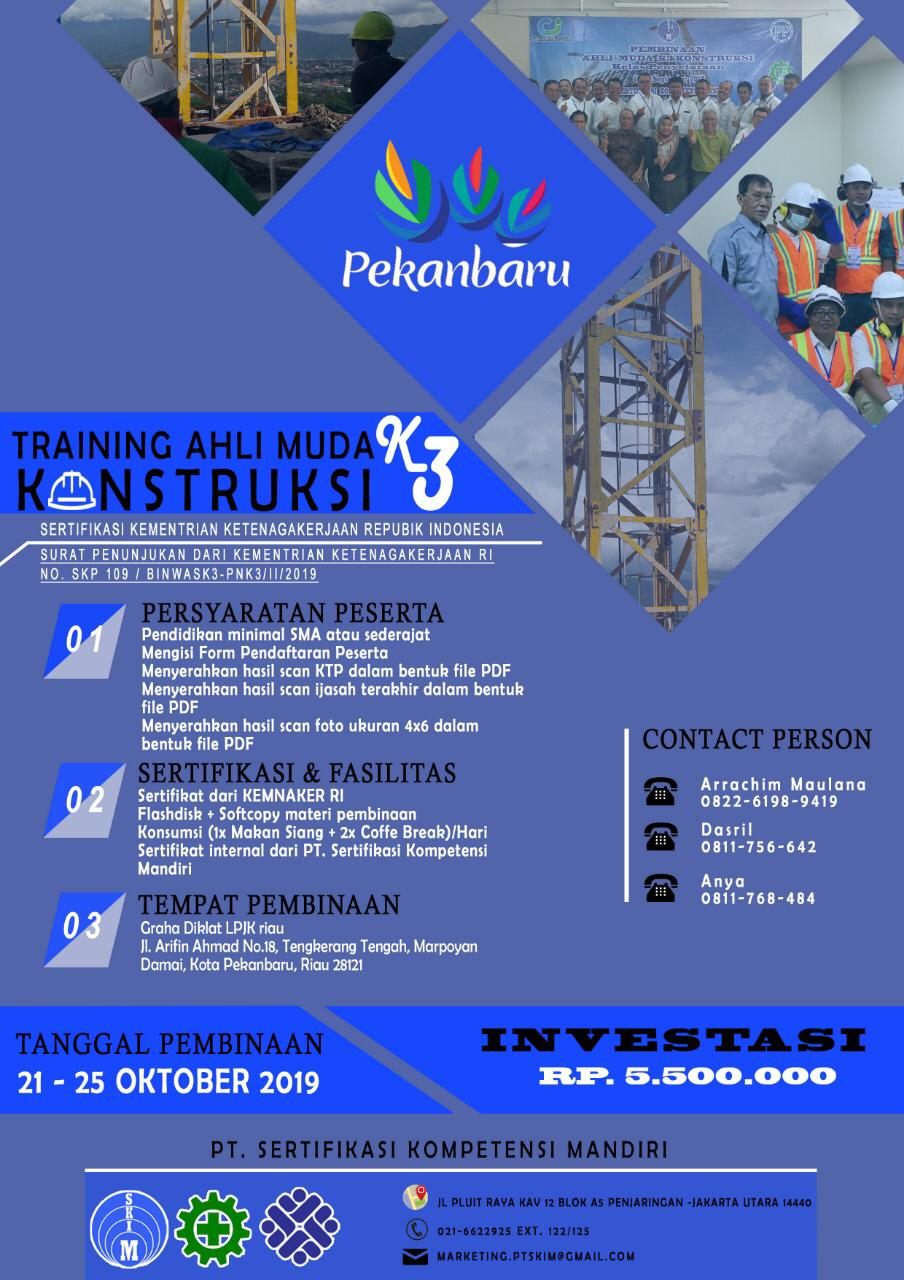 Training Ahli muda K3 Konstruksi