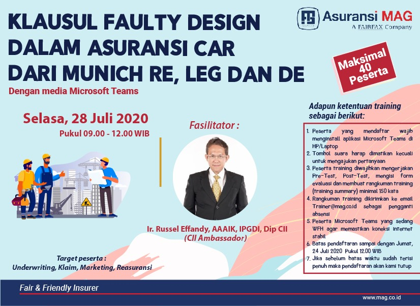 in-house-wda-training-for-mag-klausul-faulty-design-dalam-asuransi-car-mr-wording-mr-leg-dan-de-selasa-28-juli-2020-0900-1200