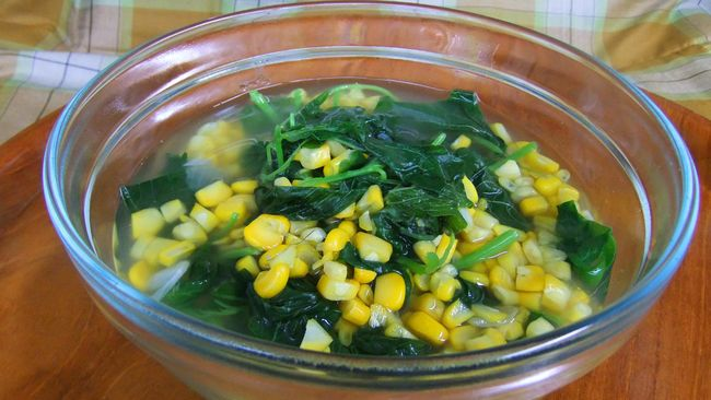 sayur-bayam-dan-jagung